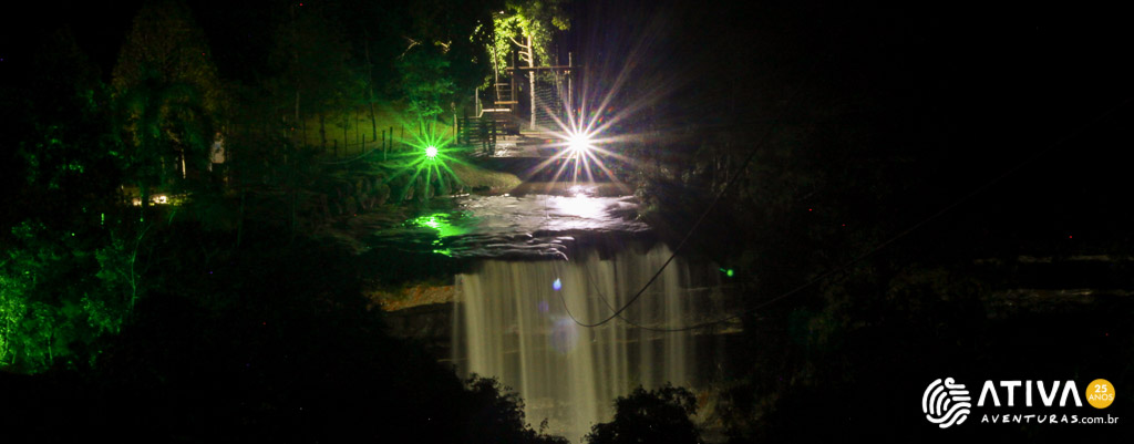 Tirolesa Cachoeira Paulista – Noturna-